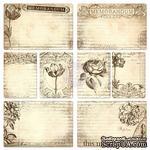 ЦЕНА СНИЖЕНА! Набор карточек от Prima - Everyday Vintage Pocket Paintables Cards - #2 - Memorandum, 16 шт - ScrapUA.com