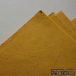 Тутовая бумага ручной работы, цвет абрикосовый, формат А4 - ScrapUA.com