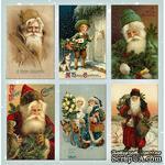 Набор картинок для декорирования Фабрика Декора - Санта клаусы №2 - ScrapUA.com