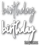 Ножи для вырубки от Memory Box - Birthday Jotted Script - ScrapUA.com