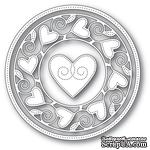 Ножи от Memory Box - Pinpoint Heart Circle Frame craft die - ScrapUA.com