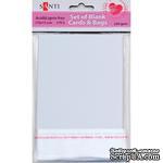 Набор белых текстурированных заготовок для открыток, 10см*15см, 250г/м2, 5шт., ТМ Santi - ScrapUA.com