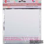 Набор белых перламутровых заготовок для открыток, 15см*15см, 250г/м2, 5шт., ТМ Santi - ScrapUA.com