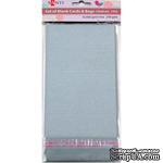 Набор серебристых перламутровых заготовок для открыток, 10см*20см, 250г/м2, 5шт., ТМ Santi - ScrapUA.com