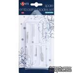 Набор наконечников для тиснения, изготовления цветов и резки для макетного ножа TM Santi, 6 штук - ScrapUA.com