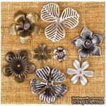 Металлические украшения Prima - Finnabair Vintage Mechanicals Metal Trinkets - Mini Flowers - ScrapUA.com