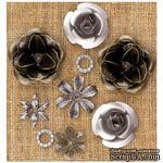 Металлические украшения Prima - Finnabair Vintage Mechanicals Metal Trinkets - Roses - ScrapUA.com