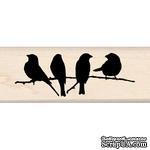Резиновый штамп от Inkadinkado - Branchful of Birds - ScrapUA.com