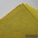 Тутовая бумага ручной работы, цвет желтый, формат А4 - ScrapUA.com