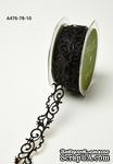 Лента - Adhesive Fleur-de-lis Scroll Design - черная, ширина - 22 мм, длина 90 см - ScrapUA.com