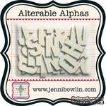 Набор букв из чипборда с рисунком Jenni Bowlin Alterable Alphas - Graph, 36 штук - ScrapUA.com
