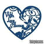 Нож для вырубки от Tattered Lace - With love always verse - Сердце с любовью - ScrapUA.com
