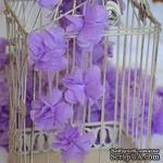 Лента с цветами из шифона, цвет светло-фиолетовый, 6 цветков - ScrapUA.com