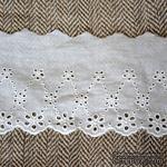 Кружево шитье, цвет белый натуральный, 100% хлопок, ширина 8 см, длина 45 см - ScrapUA.com