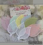 Декор ажурный - Набор листиков от Allmacrfat, цвет на выбор, в наборе 4 шт. одного цвета - ScrapUA.com