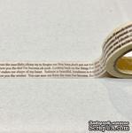 Бумажный скотч на клеевой основе, белый с печатным текстом, 15мм х 10м - ScrapUA.com