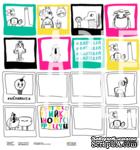 Лист двусторонней бумаги от Артелье -  «Страна МО»  - «Портрет на фоне», 30х30 см - ScrapUA.com
