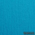 Дизайнерский картон с фактурой льна Sirio tela turchese, размер: 30х30 см, цвет: голубой, плотность: 290 г/м2, 1 шт - ScrapUA.com
