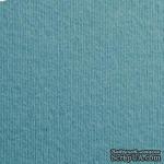 Дизайнерский картон с фактурой вельвета Nettuno oltremare, размер: 30х30 см, цвет: аквамарин, плотность: 280 г/м2, 1 шт - ScrapUA.com