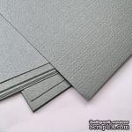 Картон с металлизированным эффектом Sirio pearl merida gray, 30х30, серый темный, 290 г/м2, 1 шт. - ScrapUA.com