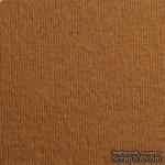 Дизайнерский картон с фактурой вельвета Nettuno tabacco, размер: 30х30 см, цвет: коричневый светлый, плотность: 280 г/м2, 1 шт - ScrapUA.com
