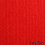 Дизайнерский картон с фактурой вельвета Nettuno rosso fuoco, 30х30 см, красный алый, 280 г/м2, 1 шт - ScrapUA.com