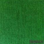 Дизайнерский картон с фактурой льна Sirio tela foglia, 30х30,  зеленый темный,  290 г/м2 - ScrapUA.com
