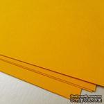 Дизайнерский картон с гладкой фактурой Malmero mangue, размер: 30х30, цвет: желто-горячий, 250 г/м2, 1 шт - ScrapUA.com