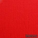 Дизайнерский картон с фактурой льна Sirio tela lampone, 30х30, красный, 290 г/м2 - ScrapUA.com