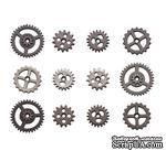 Набор металлических украшений-шестеренок Tim Holtz Ideaology - Mini Gears - ScrapUA.com