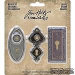 Набор металлических украшений Tim Holtz - Idea-Ology Metal Large Keyholes, 3 штуки, замочные скважины - ScrapUA.com