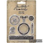 Набор металлических украшений Tim Holtz - Idea-Ology Metal Odds & Ends, 7 штук - ScrapUA.com
