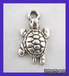 Металлическая подвеска черепашка, 24х13мм, 1шт. - ScrapUA.com