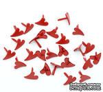 """Брадсы  """"Сердце"""", 12x11мм, цвет красный, 20 шт. - ScrapUA.com"""