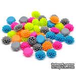 "Набор кабошон ""Цветочки"", цвет: микс, размер 16х8 мм, 10 шт. - ScrapUA.com"