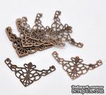 Фигурные уголки, медь, размер 4,8х2,6 мм, 2 шт. - ScrapUA.com