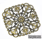 Металлическое украшение 5см x 5см ажурные, античная бронза, 1 шт. - ScrapUA.com