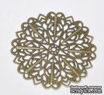 """Металлическое украшение """"Цветок"""", 5.2см, античная бронза, 1 шт. - ScrapUA.com"""