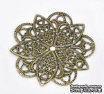 """Металлическое украшение """"Цветок"""", 46мм x 46мм, античная бронза, 1 шт. - ScrapUA.com"""