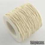 Вощеный шнур, 0,7 мм, цвет белый молочный, 5 метров - ScrapUA.com