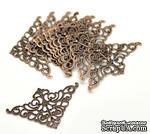 Фигурные уголки, медь, размер 50х32 мм, 2 шт. - ScrapUA.com