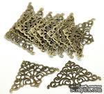 Фигурные уголки, античная бронза, размер 50х32 мм, 2 шт. - ScrapUA.com