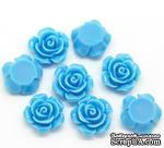 "Кабошон ""Роза"", цвет голубой, размер 14х6 мм, 1 шт. - ScrapUA.com"