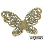 """Металлическое украшение """"Бабочка ажурная"""", 4.3см x 3.3см, античная бронза, 1 шт. - ScrapUA.com"""
