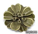 """Металлическое украшение """"Цветок"""", 3.2см x 3.2см, античная бронза, 1 шт. - ScrapUA.com"""