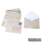 Винтажные конвертики - Paper Vintage Gift Greeting Card Envelopes Pattern, размер 9.5см x 7.2см, 12шт. - ScrapUA.com