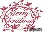 Нож для вырубки от Cheery Lynn Designs - Merry Christmas Holly Sentiment - ScrapUA.com