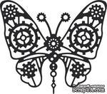 Нож для вырубки от Cheery Lynn Designs - Gears Butterfly (Steampunk Series) - ScrapUA.com