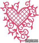 Нож для вырубки от Cheery Lynn Designs - Lattice Heart & Vines - ScrapUA.com