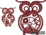 Нож для вырубки от Cheery Lynn Designs - Owls with Gears (Set of 2) (Steampunk Series) - ScrapUA.com